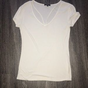 White shirt with cross detail